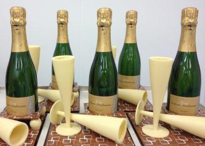 chocolade glazen + champagne